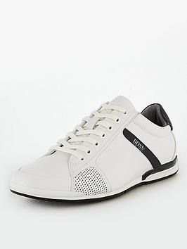 Boss Boss Athleisure Saturn Leather Trainers - White Picture