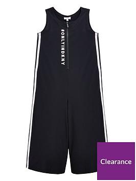 dkny-girls-side-stripe-logo-jumpsuit-black
