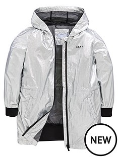 dkny-girls-logo-hooded-metallic-jacket-silver