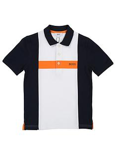 boss-boys-short-sleeve-colourblock-pique-polo-shirt-whitenavy