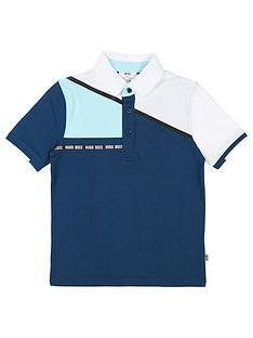 boss-boys-short-sleeve-colourblock-jersey-polo-bluewhite