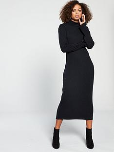 abdee63c9ae V by Very Knitted Ribbed Jersey Dress