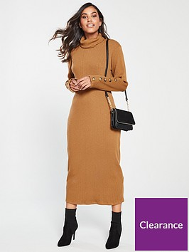 v-by-very-knitted-ribbed-jersey-dress-camel