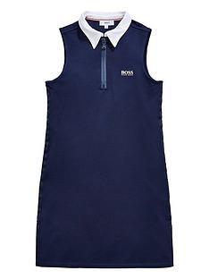 boss-girls-sleeveless-contrast-collar-dress-navy