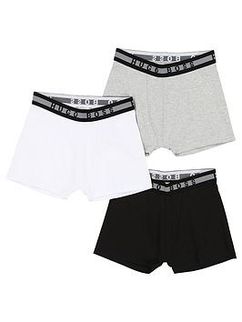 Boss Boss Boys Classic 3 Pack Boxer Shorts - Black Picture