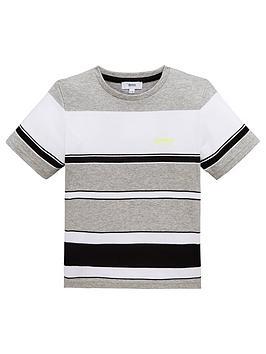 boss-boys-short-sleeve-stripe-t-shirt-greyblack