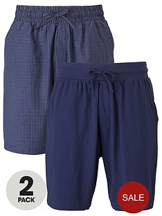 v-by-very-twonbsppack-check-amp-plain-jersey-shorts-navy