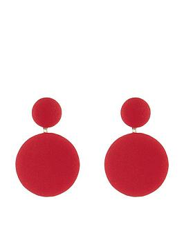 accessorize-fabric-covered-earrings-red