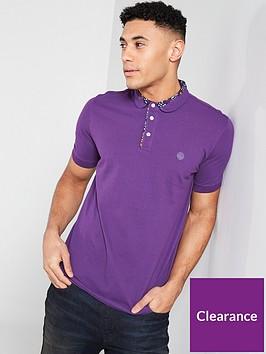 pretty-green-floral-print-collar-polo-shirt-purple
