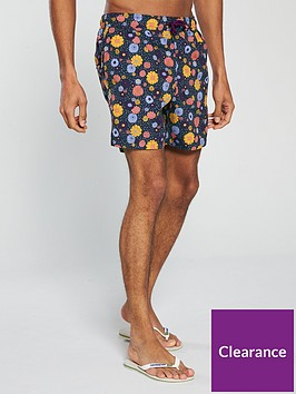 pretty-green-floral-print-swim-shorts