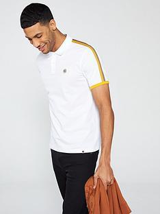 pretty-green-contrastnbspstripe-polo-shirt-white