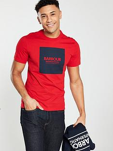 barbour-international-graphic-block-t-shirt-red