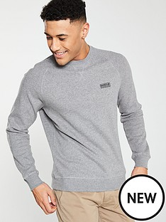 barbour-international-essential-crew-sweat-grey-marl