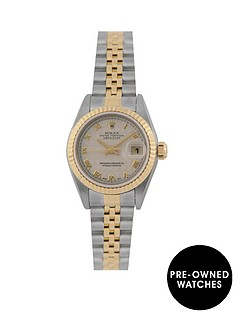 rolex-rolex-pre-owned-cream-pyramid-datejust-dial-two-tone-stainless-steel-bracelet-ladies-watch-with-original-certificate-ref-79173