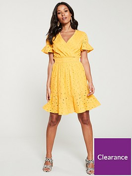 v-by-very-broderie-flippy-hem-dress-yellow