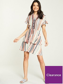 v-by-very-stripe-shirred-waist-dress-multi