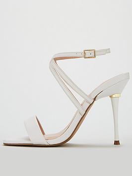 43dc5ceb70ab ... Carvela Goldi Strappy Stiletto Heel Sandal Shoes - White Gold. View  larger