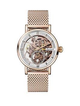 Ingersoll Ingersoll Ingersoll 1892 The Herald White And Rose Gold Skeleton  ... Picture