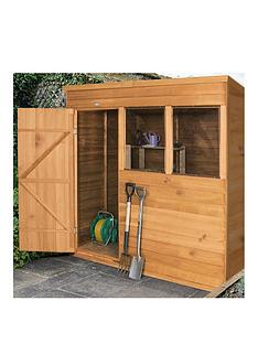 forest-7-x-5ftnbsppent-overlap-dip-treated-shed-withnbspdouble-doors