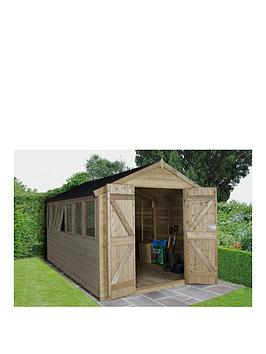forest-forest-12-x-8-apex-tongue-groove-pressure-treated-workshop-double-doors