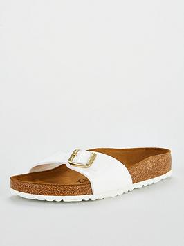 4c7c4828187 Birkenstock Madrid Big Buckle Flat Sandals - White | littlewoods.com