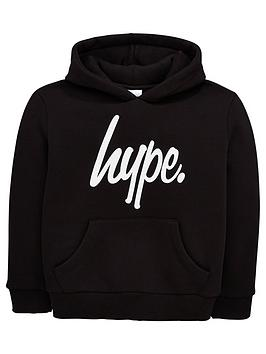 Hype Hype Boys Core Script Overhead Hoodie - Black Picture