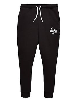 Hype Hype Boys Core Script Jog Pants - Black Picture