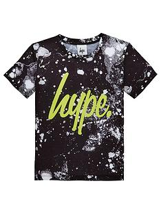 hype-boys-marble-neon-short-sleeve-t-shirt-black