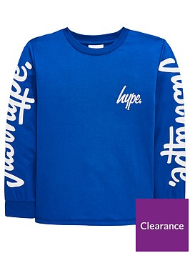 hype-boys-logo-sleeve-long-sleeve-t-shirt-blue