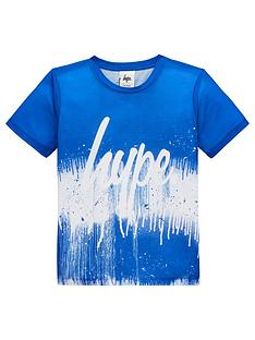 hype-boys-drip-fade-short-sleeve-t-shirt-blue