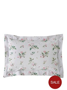 cabbages-roses-nbspclementine-pair-of-100-cotton-percale-oxford-pillowcases-pair