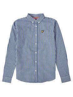 lyle-scott-boys-long-sleeve-gingham-shirt-blue