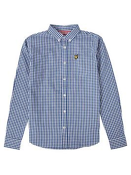 lyle-scott-boys-long-sleeve-gingham-shirt-blue