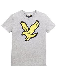 lyle-scott-boys-short-sleeve-eagle-logo-t-shirt-grey