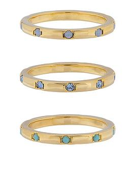 accessorize-z-range-3x-hammered-swarovski-rings-gold