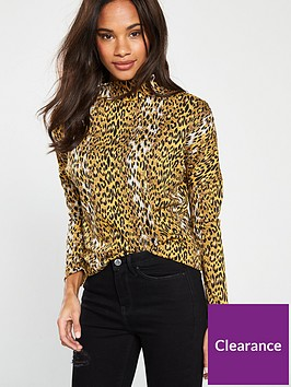 v-by-very-high-neck-leopard-top