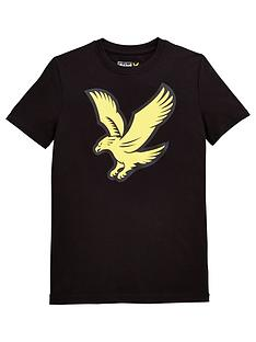 lyle-scott-boys-short-sleeve-eagle-logo-t-shirt-black