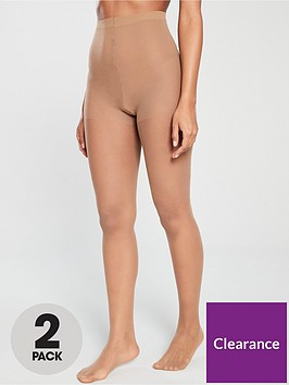 pretty-polly-2-pack-nylons-super-slimmer-sheer-gloss-tights-sherry