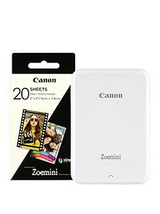 canon-zoemini-slim-body-pocket-sized-photo-printer-with-optional-30-or-60-prints-white