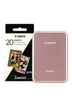 canon-zoemini-slim-body-pocket-sized-photo-printer-with-optional-30-or-60-prints-rose-gold