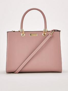 carvela-darla-comb-structured-tote-bag-pink
