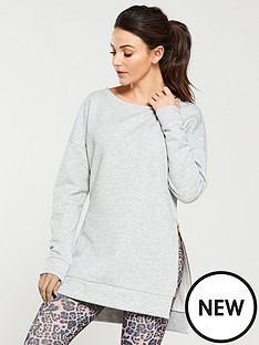 michelle-keegan-longline-zip-side-sweat-grey-marl