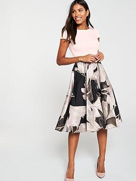 COAST Coast Martha Floral V Back Pocket Dress - Blush Picture