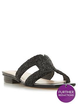 dune-london-libi-woven-detail-flat-smart-sandals-black