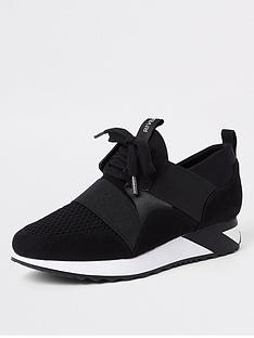 river-island-lace-up-trainer-black