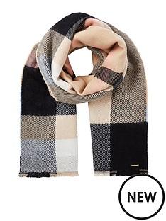 river-island-neutral-check-scarf-beige