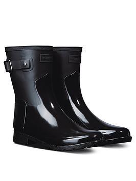 hunter-refined-gloss-short-duo-wellington-boots-black