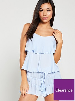 v-by-very-tiered-satin-cami-and-short