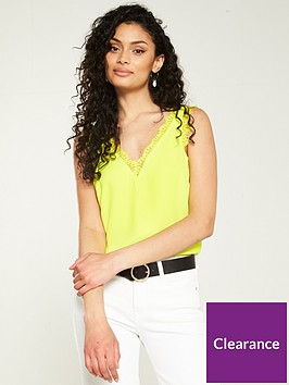v-by-very-lace-trim-button-back-caminbsp--yellow