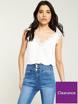 v-by-very-lace-trim-button-back-caminbsp--ivory